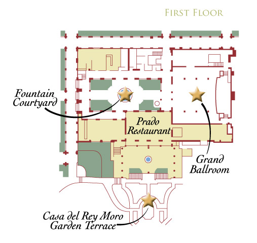 Floor Plans Dimensions Capacities The Prado At Balboa Park Event And Banquet Center